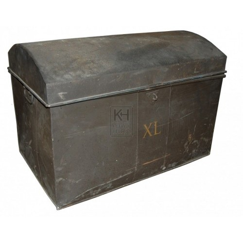 Dark Metal Box Curved Top