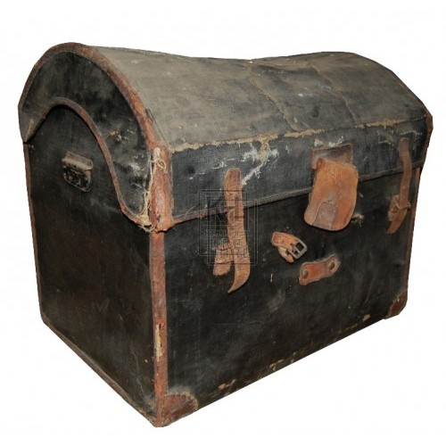 Black Covered Period Chest