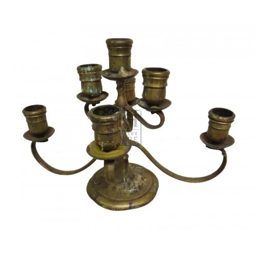 Brass candleholder 7 branch