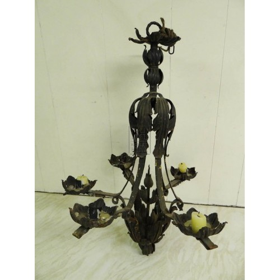 Metal ornate chandelier