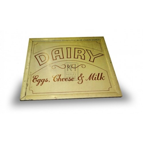Dairy Egg Cheese & Milk sign