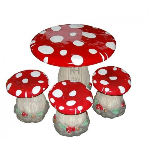 Toadstool Table and Chairs Set