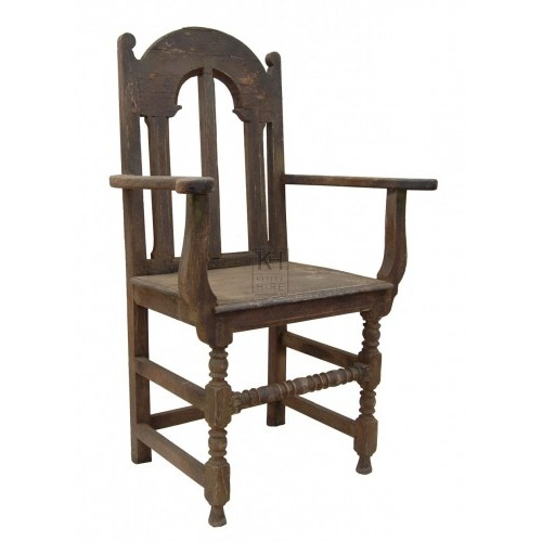Carved Wood Armchair