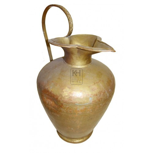 Bulbous copper jug