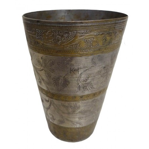 Brass bands and silver beaker