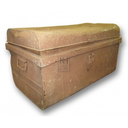 Worn Light Metal Chest