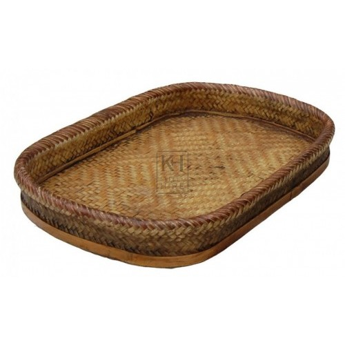 Flat Rectangle Wicker Basket
