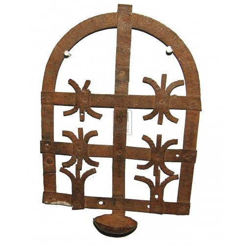 Ornate Rusted Wall Candle Holder