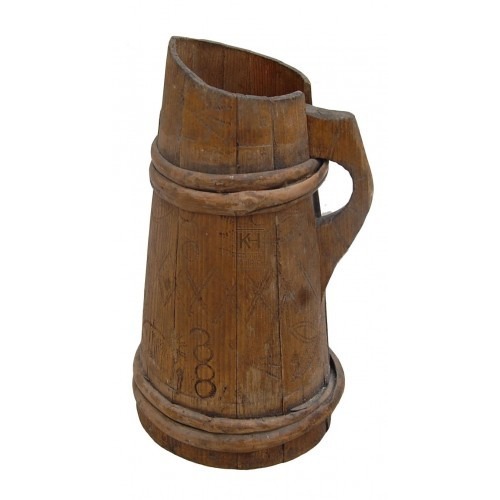 Wood Jug With Handle