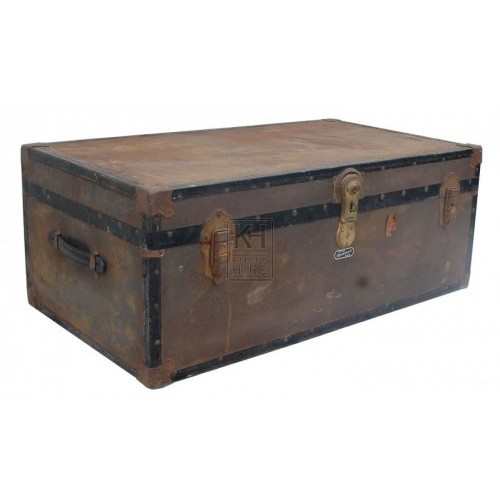 Worn Brown Chest with Handles