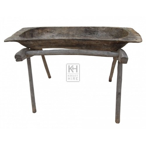 Rough Wooden Trough on Legs