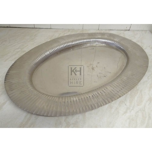 Oval silver plate