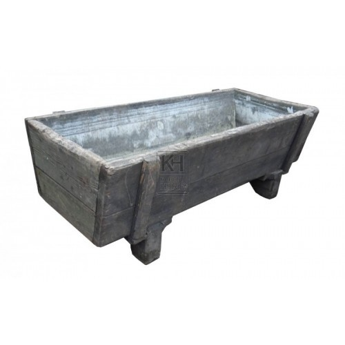 Large Wooden Trough on Legs