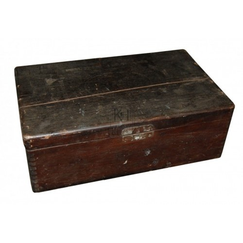 Small dark wooden box