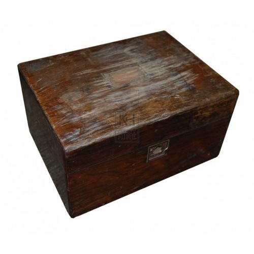 Small Plain Dark Wooden Box