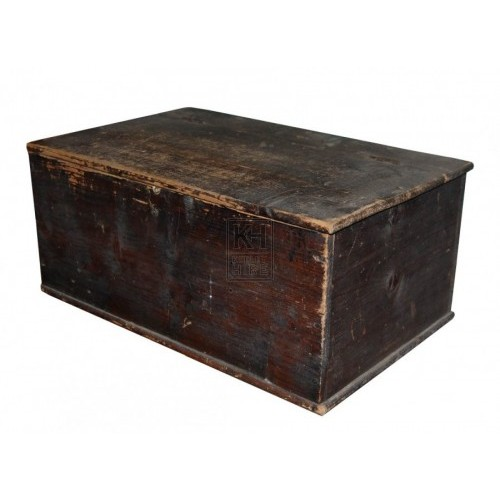 Plain Dark Wooden Box