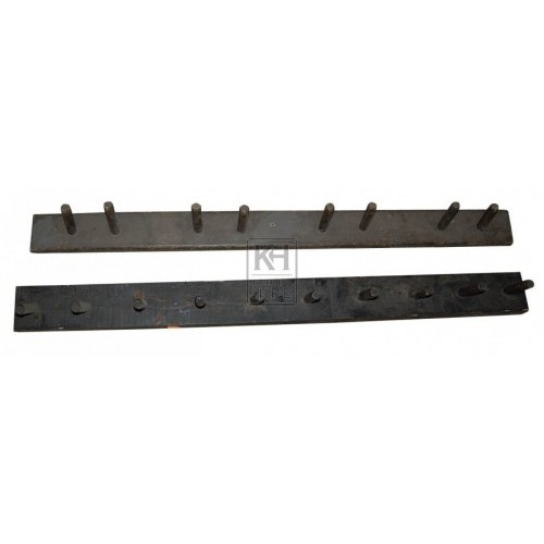 Dark Wood Plain Coat Rack