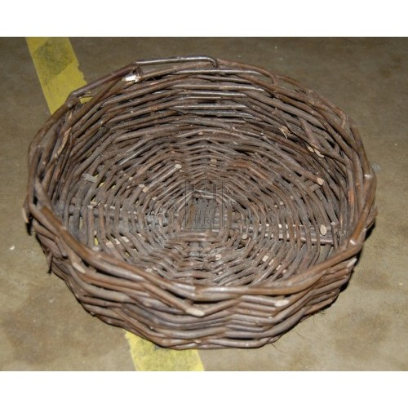 Dark Shallow Basket with No Handles
