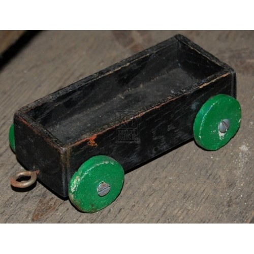 Small Wood Toy Cart on Wheels