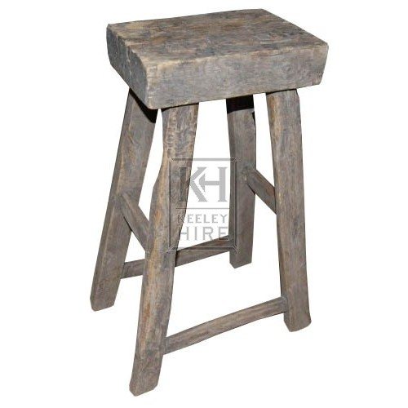 Tall Rustic 4-Legged Stool