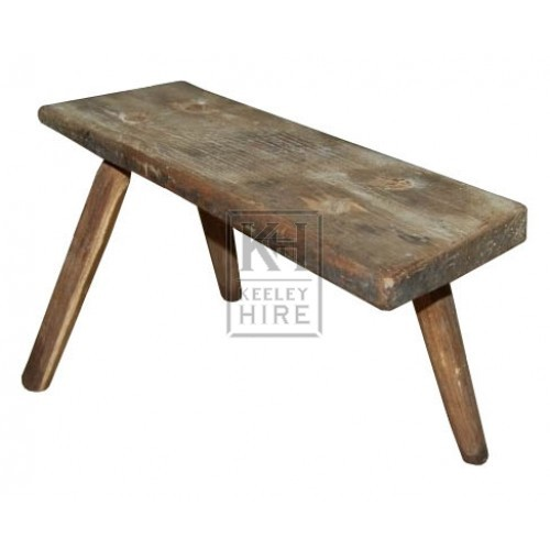 Low Narrow Stool With Missing Leg
