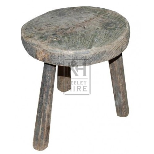 Small Round 3-Legged Stool