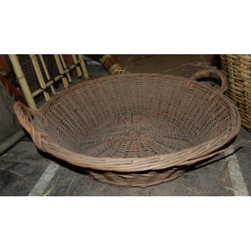 Shallow Basket with 2 handles
