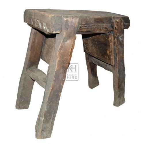 Old Rustic Thick Stool