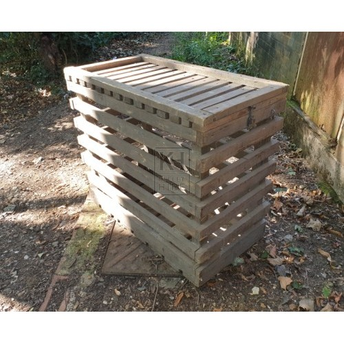Large slatted animal cage with lid