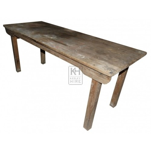 Wooden Table with Folding Legs