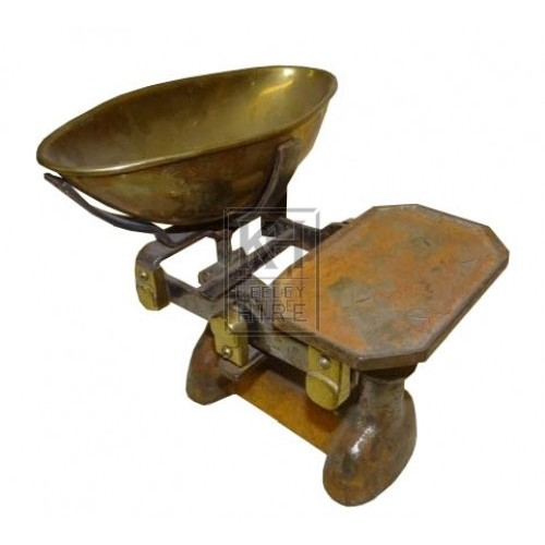 Brass and iron grocers scales