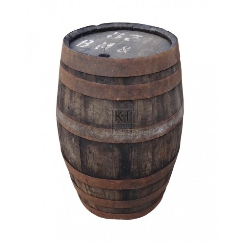 Small aged wood barrel