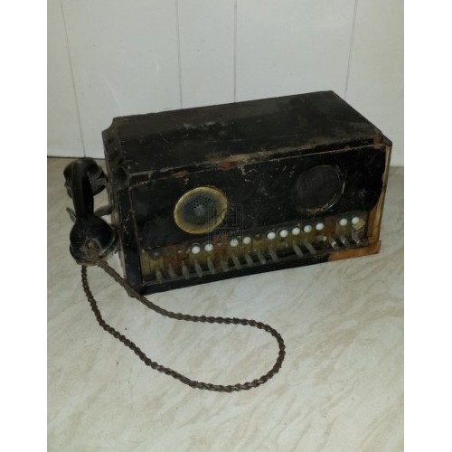 Military radio with phone