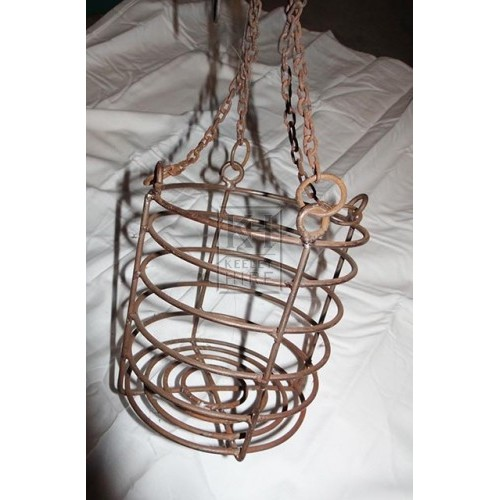 Round iron cage on chain