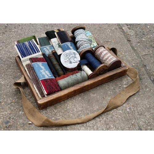 Sellers tray with fabric samples