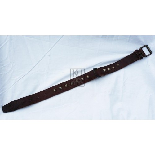 Square studded leather period dog collar
