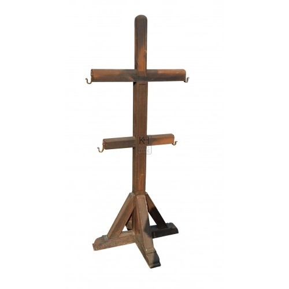 Dark wood armour stand