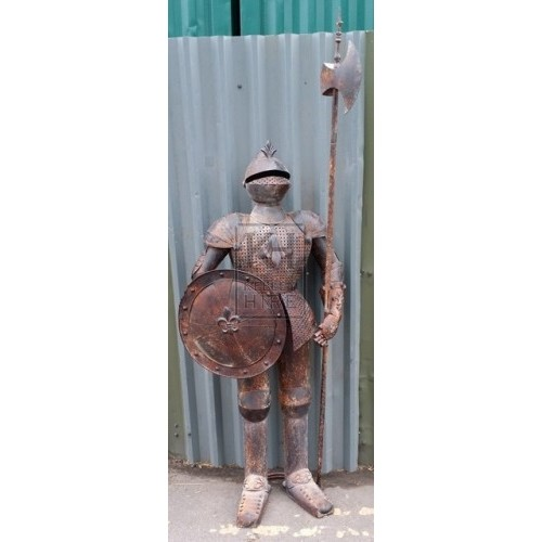 Distressed tin suit of armour