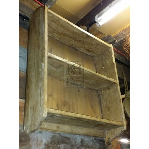 Small pine wall shelf