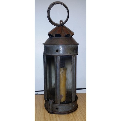 Round ornate iron lantern