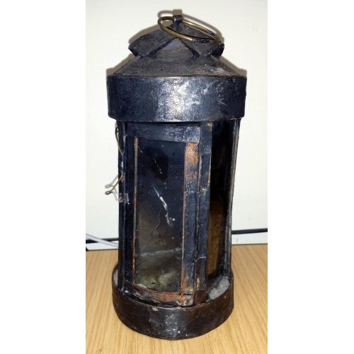 Round lantern with fluted top