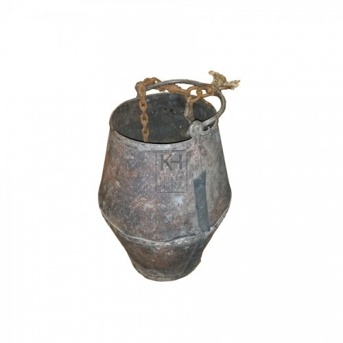 Large iron well bucket - studded
