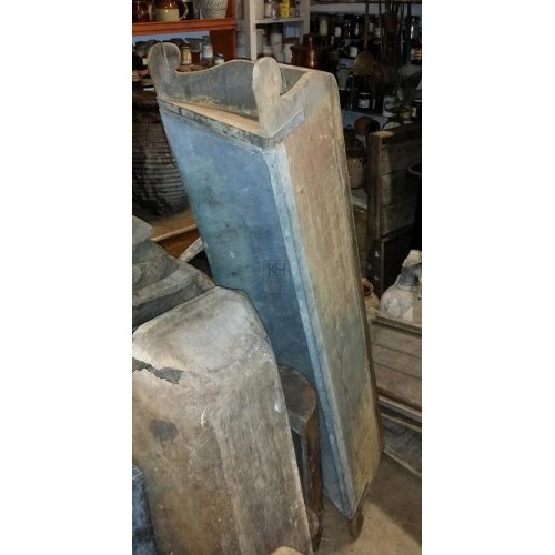 Large wood dough trough with lining