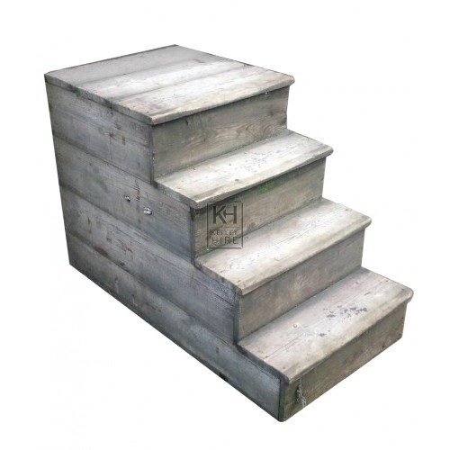 Large wood mounting block steps