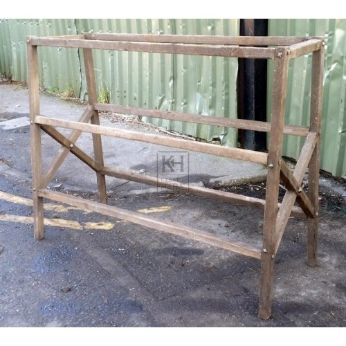 Dark wood drying rack