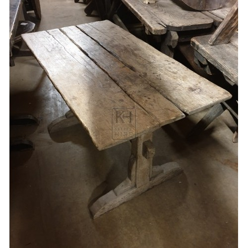 Light wood straight leg table