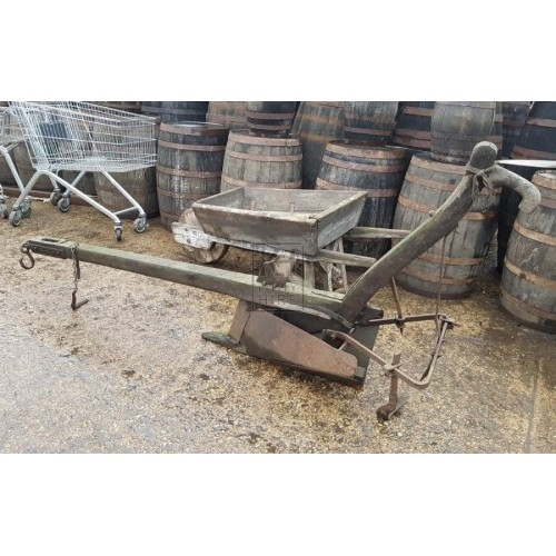 Early wood plough with iron work