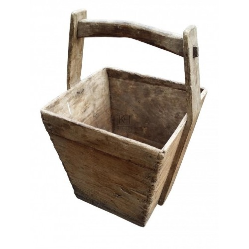 Square wood bucket
