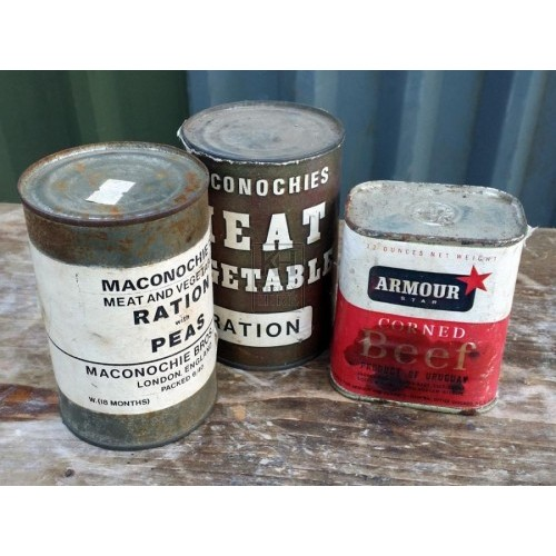 Wartime food tins