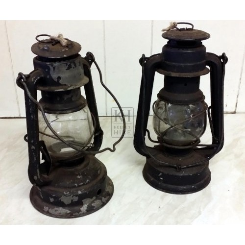 Old hurricane lamps